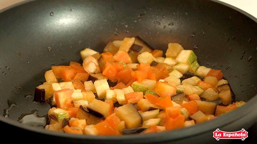Receta tortilla de verduras AOVE La Espanola