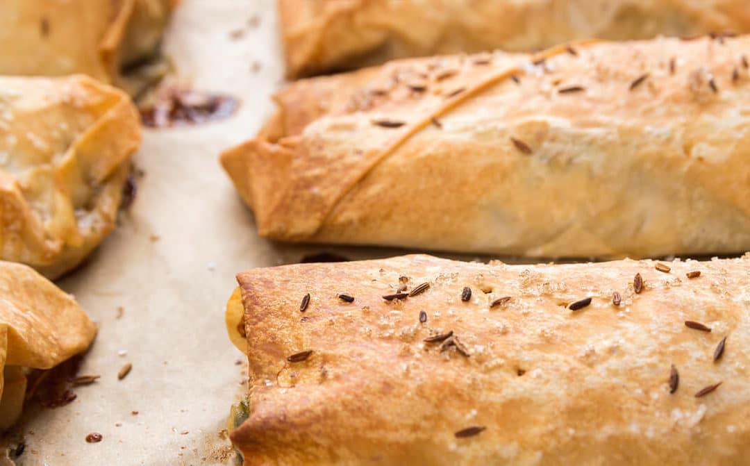 Empanadillas de champiñones y carne