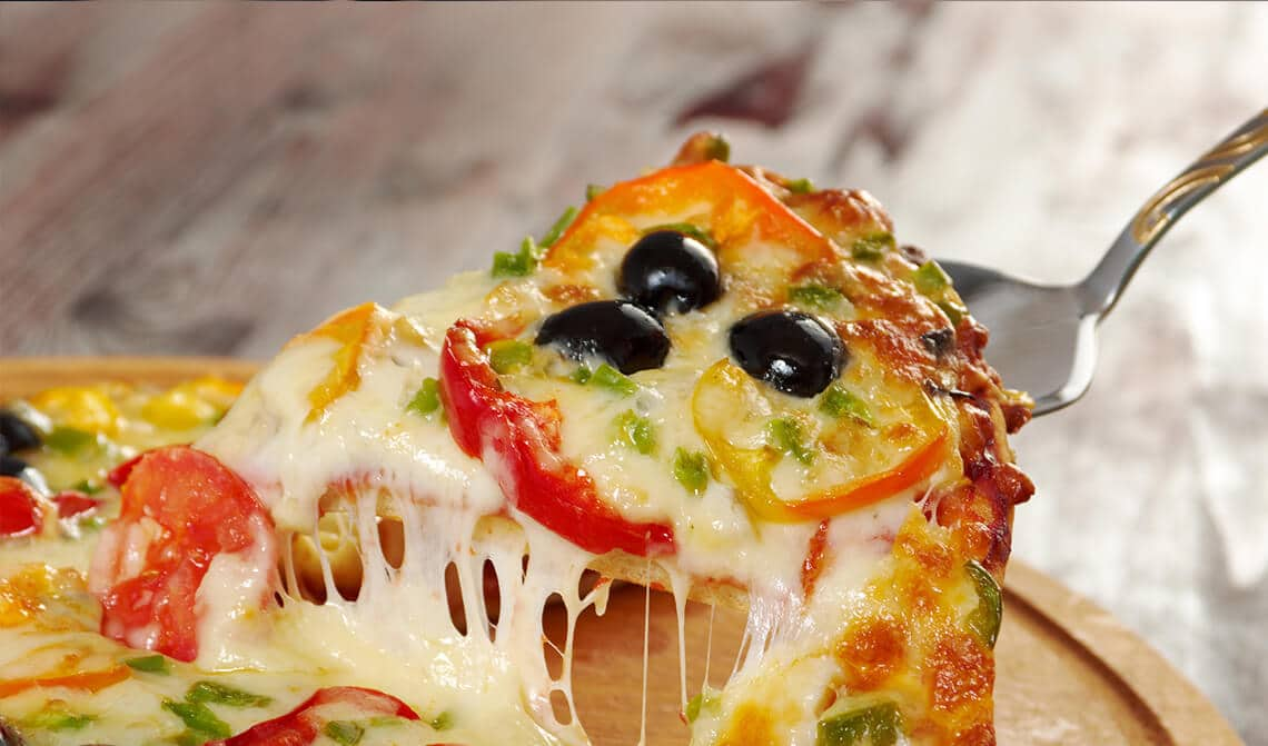 Pizza con harina de soja