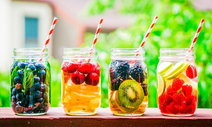 Bebida refrescante en primavera