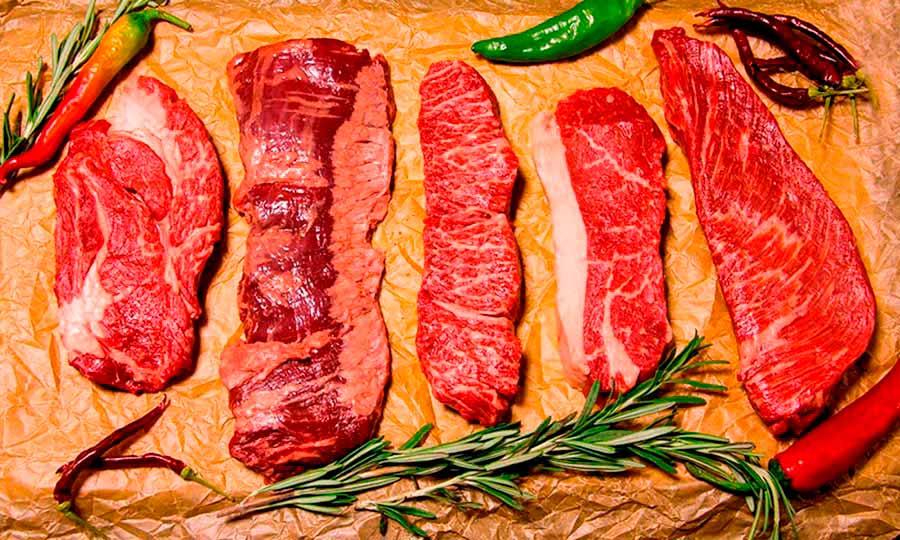 Corte carne roja