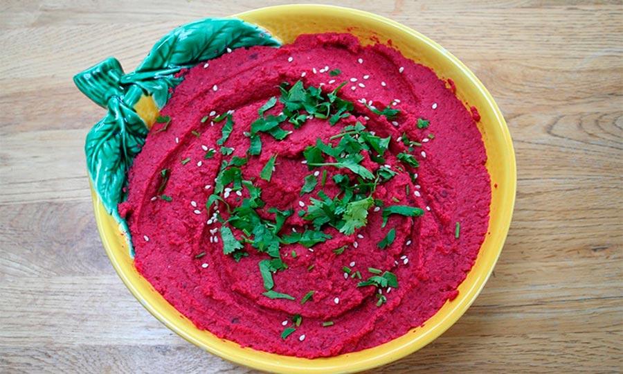 Hummus de remolacha