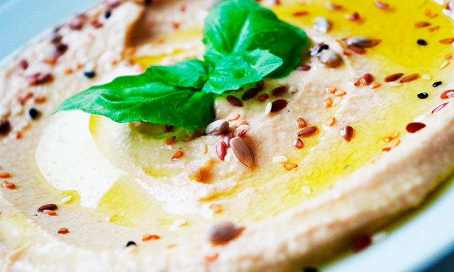 Hummus para picnic