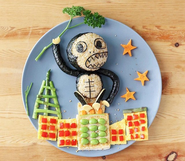 Art food King Kong