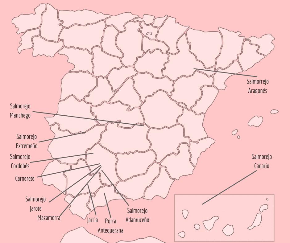Mapa de salmorejos