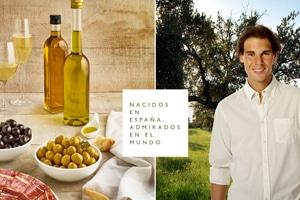Rafa Nadal, imagen internacional de los alimentos españoles, entre ellos el aceite de oliva