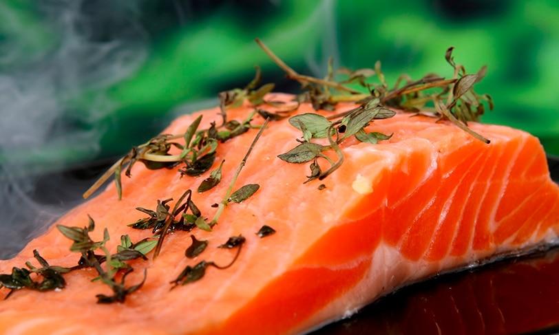 Pescado cocinado a baja temperatura