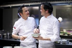 Sergio y Javier Torres, propietarios del restaurante Dos Cielos, con Estrella Michelin