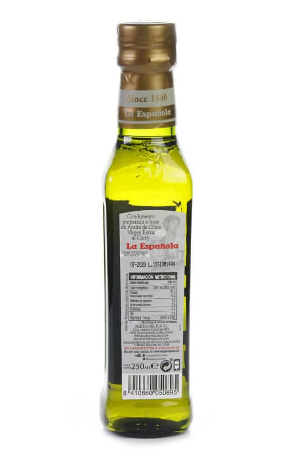 aceite de oliva aromatizado con curry la española