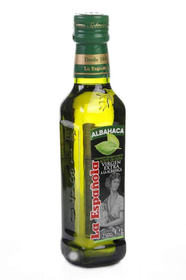 aceite de oliva con esencia de albahaca