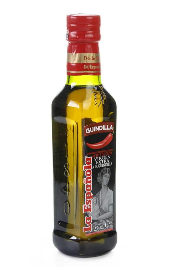 aceite de oliva picante con guindilla y virgen extra