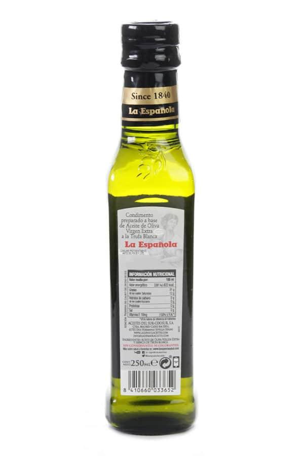 aceite de oliva virgen extra con trufa blanca la espanola