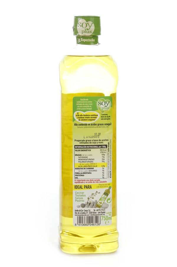 aceite refinado de soja y nuez