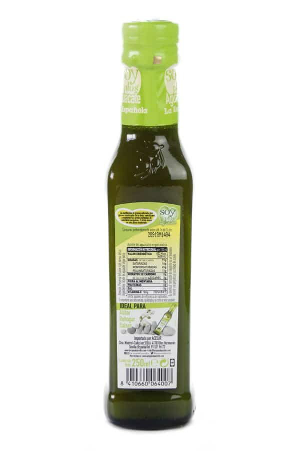 aceite virgen extra aguacate