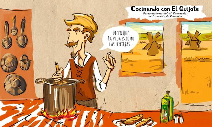 El Quijote, un libro para comérselo. Menú Quijote