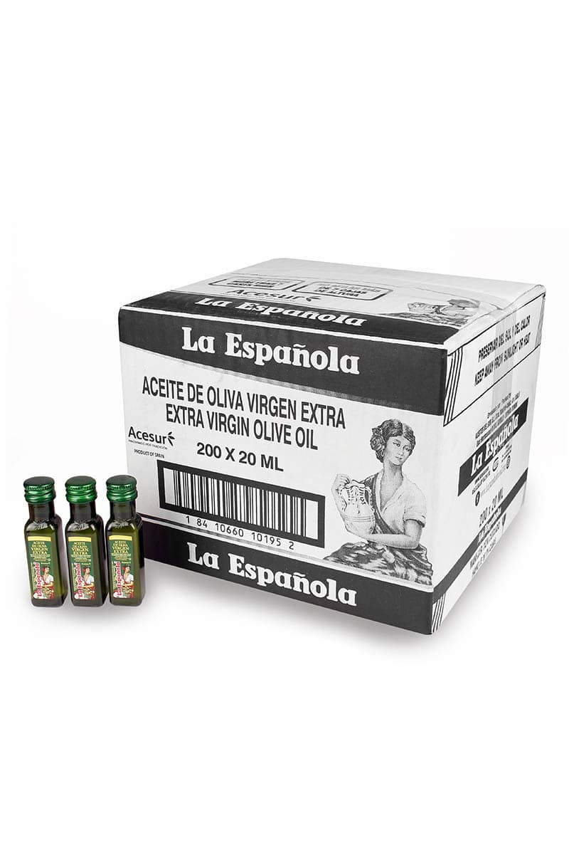 miniaturas de aceite de oliva virgen extra