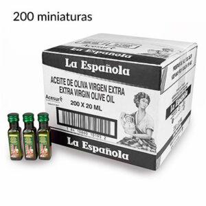 monodosis de aceite de oliva en miniatura