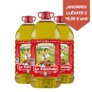 aceite de oliva sabor suave la espanola 5l pack 3