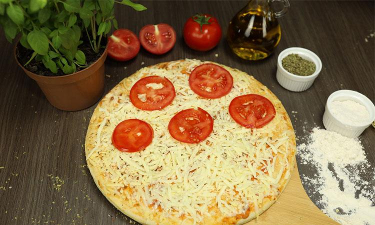 ingredientes para una pizza casera