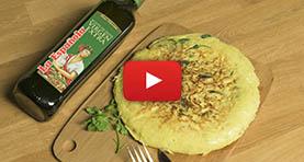 receta tortilla de patatas con bacalao y espinacas